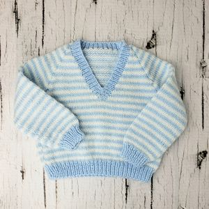 Other - ❄ 3/$20 Handmade Knit Baby V-Neck Sweater